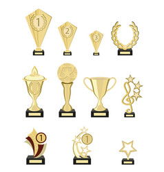 set of awards from pure gold for participation in vector image vector image