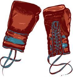 vintage boxing gloves illustration vector image vector image