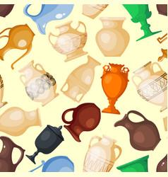 amphora jar bottle amphoric ancient greek vector image
