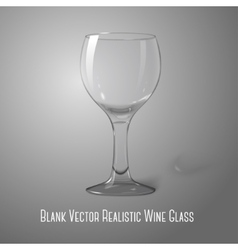 Blank transparent photo realistic isolated on grey vector image