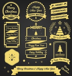 Christmas Greeting Label Premium Design vector image vector image