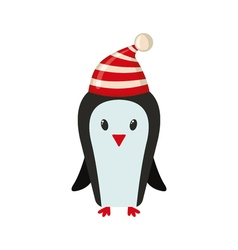 Cute penguin in flat style vector image vector image