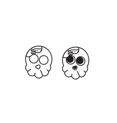 cute skull vector image