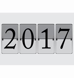 Flip Board 2017 vector image vector image