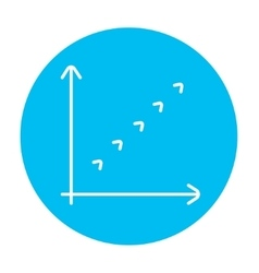 Growth graph line icon vector image