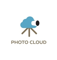 Photo cloud creative logo for cloud computing vector image