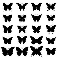 Set of butterflies for design vector image vector image