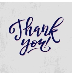 Thank You Card Calligraphic Inscription Hand vector image vector image