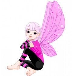 cartoon emo fairy vector image vector image