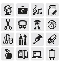 Icons set school vector image vector image