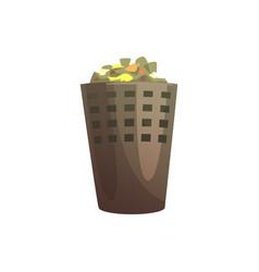 indoor trash bin waste processing and utilization vector image vector image
