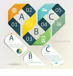 Infographics - five step process vector image
