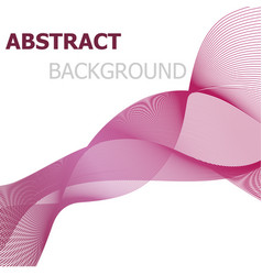 pink line wave abstract background vector image
