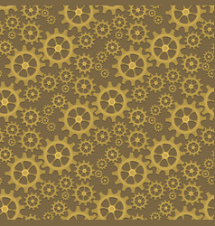 seamless background with gears the wheels vector image