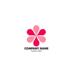 abstract flower logo icon design vector image