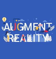 Augment reality cartoon flat vector