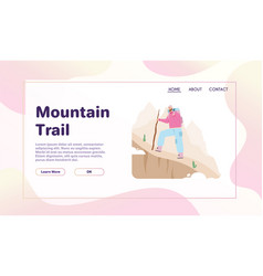 banner mountain trail concept vector image