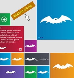 Bat icon sign buttons Modern interface website vector