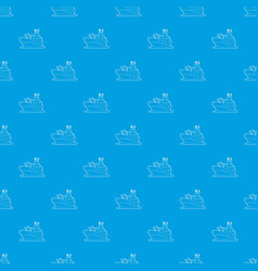 Battleship pattern seamless blue vector