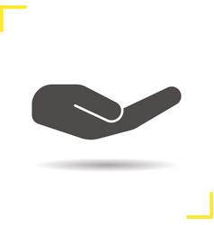 begging hand esture icon vector image