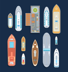 Boats - set of modern elements vector