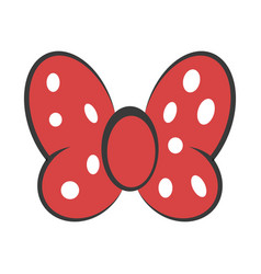 bow red butterfly hair decoration meme red vector image