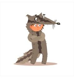 Boy Desguised As Badger vector image