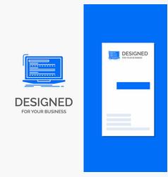 business logo for code coding computer monoblock vector image