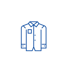 business men shirt line icon concept business men vector image