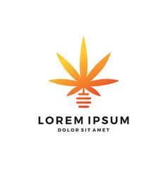 cannabis hive hemp marijuana leaf logo vector image