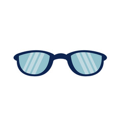 cartoon glasses accessory fashion protection icon vector image