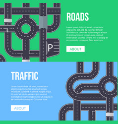 city traffic banner with highway roads vector image