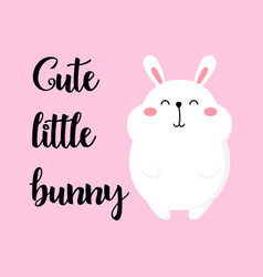 cute cartoon card with rabbit vector image