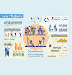 Families structure with children infographic vector