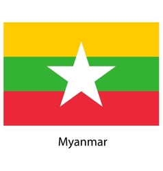 Flag of the country myanmar vector