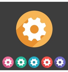 Flat game graphics icon settings vector image