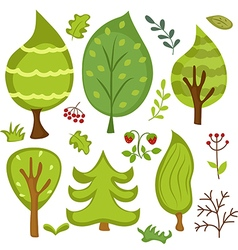 Forest elements vector image