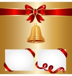 Golden bells vector
