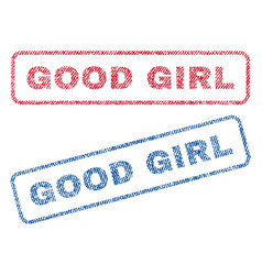 good girl textile stamps vector image