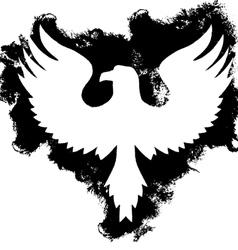 Grunge eagle vector