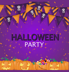 Halloween background trick or treat sweets food vector