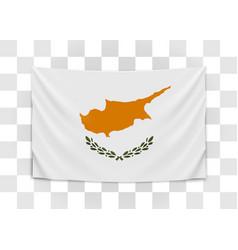 hanging flag cyprus republic cyprus vector image