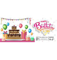 Happy birthday design with birthday element in vector
