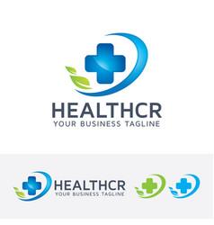 health care logo design vector image