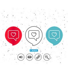 heart in speech bubble icon love symbol vector image