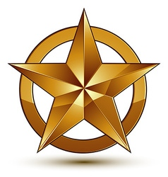 Heraldic template with five-pointed golden star vector image