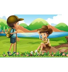 Hiking vector