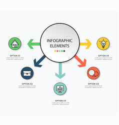 Infographic design with icon for business on vector