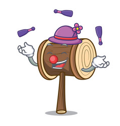 Juggling mallet mascot cartoon style vector