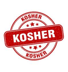 Kosher stamp kosher label round grunge sign vector